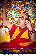 12739 - Photo: Tenzin Gyatso, le dalaï-lama, le plus haut chef spirituel du Tibet à Lausanne en Suisse