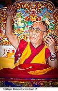 12740 - Photo: Tenzin Gyatso, le dalaï-lama, le plus haut chef spirituel du Tibet à Lausanne en Suisse