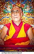 12741 - Photo: Tenzin Gyatso, le dalaï-lama, le plus haut chef spirituel du Tibet à Lausanne en Suisse