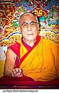 12743 - Photo: Tenzin Gyatso, le dalaï-lama, le plus haut chef spirituel du Tibet à Lausanne en Suisse