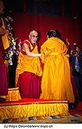 12746 - Photo: Tenzin Gyatso, le dalaï-lama, le plus haut chef spirituel du Tibet à Lausanne en Suisse