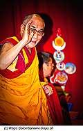 12747 - Photo: Tenzin Gyatso, le dalaï-lama, le plus haut chef spirituel du Tibet à Lausanne en Suisse