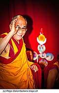 12748 - Photo: Tenzin Gyatso, le dalaï-lama, le plus haut chef spirituel du Tibet à Lausanne en Suisse