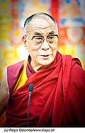 12750 - Photo: Tenzin Gyatso, le dalaï-lama, le plus haut chef spirituel du Tibet à Lausanne en Suisse