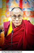 12753 - Photo: Tenzin Gyatso, le dalaï-lama, le plus haut chef spirituel du Tibet à Lausanne en Suisse