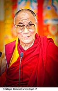 12756 - Photo: Tenzin Gyatso, le dalaï-lama, le plus haut chef spirituel du Tibet à Lausanne en Suisse