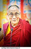 12757 - Photo: Tenzin Gyatso, le dalaï-lama, le plus haut chef spirituel du Tibet à Lausanne en Suisse