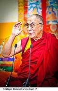 12758 - Photo: Tenzin Gyatso, le dalaï-lama, le plus haut chef spirituel du Tibet à Lausanne en Suisse