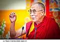 12763 - Photo: Tenzin Gyatso, le dalaï-lama, le plus haut chef spirituel du Tibet à Lausanne en Suisse