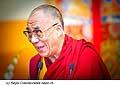 12765 - Photo: Tenzin Gyatso, le dalaï-lama, le plus haut chef spirituel du Tibet à Lausanne en Suisse