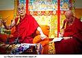 12767 - Photo: Matthieu Ricard avec Tenzin Gyatso, le dalaï-lama, le plus haut chef spirituel du Tibet à Lausanne en Suisse
