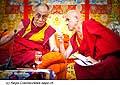 12773 - Photo: Matthieu Ricard avec Tenzin Gyatso, le dalaï-lama, le plus haut chef spirituel du Tibet à Lausanne en Suisse