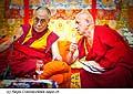 12774 - Photo: Matthieu Ricard avec Tenzin Gyatso, le dalaï-lama, le plus haut chef spirituel du Tibet à Lausanne en Suisse