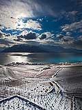 12833 - Photo: Village de Rivaz - Suisse, canton de Vaud, vignoble de Lavaux sous la neige et le Lac Léman - UNESCO