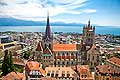13099 - Photo - Lausanne, Ville de Lausanne, Cath�drale - city of Lausanne, Switzerland