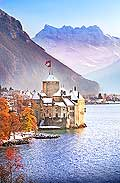 13122 - Photo : Suisse - Château de Chillon au bord du Lac Léman