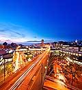 13150 - Lausanne de nuit, Tour Bel-Air