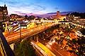 13152 - Lausanne de nuit et la Tour Bel-Air