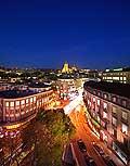 13153 - Lausanne de nuit, la Cathédrale