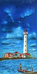 4969 - Le phare - Huile sur toile - 1992