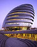 5037 - Photo : Londres, Angleterre - quartier moderne - building Designed by Foster and Partners unveil Greater London Authority GLA