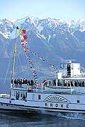 7488 - suisse, bateau de la CGN sur le Lac Léman