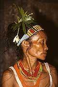 9417 - Photo : Hommes-fleurs, Mentawais, île de Siberut, Indonésie