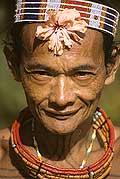 9438 - Photo : Hommes-fleurs, Mentawais, île de Siberut, Indonésie