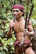 9477 - Photo : Hommes-fleurs, Mentawais, île de Siberut, Indonésie