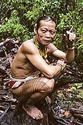 9492 - Photo : Hommes-fleurs, Mentawais, île de Siberut, Indonésie