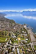 9520 - Photo: Suisse, Lausanne vue a�rienne, vue du ciel - Switzerland