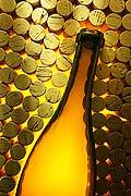 9625 - Photo : bouteilles de vins, bouchons - bottles wines
