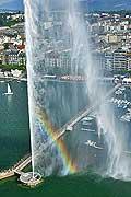 9869 - Photo : Suisse - ville de Genève - jet d'eau  - lac Léman - Geneva, , switzerland